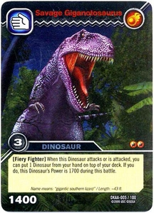 Dinosaur King TCG Alpha Dinosaurs Attack Single Card Silver DKAA-005 Savage Giganotosaurus