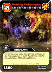 Dinosaur King TCG Alpha Dinosaurs Attack Single Card Common DKAA-006 Hunting Tarbosaurus