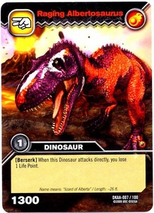 Dinosaur King TCG Alpha Dinosaurs Attack Single Card Common DKAA-007 Raging Albertosaurus