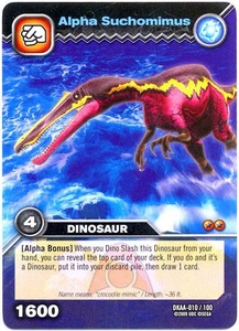 Dinosaur King TCG Alpha Dinosaurs Attack Single Card Common DKAA-010 Alpha Suchomimus