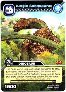 Dinosaur King TCG Alpha Dinosaurs Attack Single Card Common DKAA-012 Jungle Saltasaurus