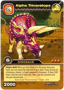 Dinosaur King TCG Alpha Dinosaurs Attack Single Card Gold DKAA-015 Alpha Triceratops