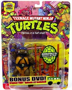 Teenage Mutant Ninja Turtles 25th Anniversary Action Figure Donatello DVD Included!