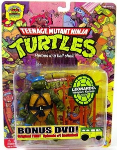Teenage Mutant Ninja Turtles 25th Anniversary Action Figure Leonardo DVD Included!