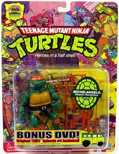 Teenage Mutant Ninja Turtles 25th Anniversary Action Figure Michelangelo DVD Included!