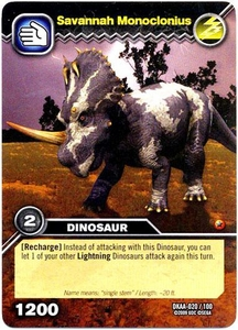 Dinosaur King TCG Alpha Dinosaurs Attack Single Card Common DKAA-020 Savannah Monoclonius