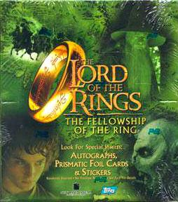 Topps Lord of the Rings Fellowship of the Ring Movie Collector's HOBBY Trading Cards Box