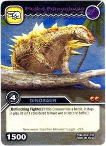 Dinosaur King TCG Alpha Dinosaurs Attack Single Card Silver DKAA-024 Plated Edmontonia