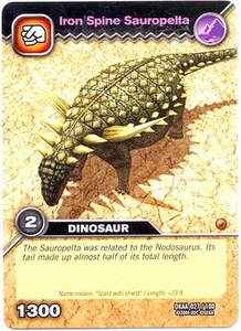 Dinosaur King TCG Alpha Dinosaurs Attack Single Card Common DKAA-027 Iron Spine Sauropelta