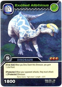 Dinosaur King TCG Alpha Dinosaurs Attack Single Card Silver DKAA-030 Excited Altirhinus