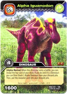 Dinosaur King TCG Alpha Dinosaurs Attack Single Card Common DKAA-031 Alpha Iguanodon