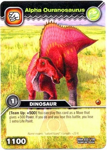 Dinosaur King TCG Alpha Dinosaurs Attack Single Card Common DKAA-035 Alpha Ouranosaurus