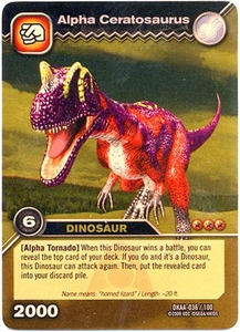 Dinosaur King TCG Alpha Dinosaurs Attack Single Card Gold DKAA-036 Alpha Ceratosaurus