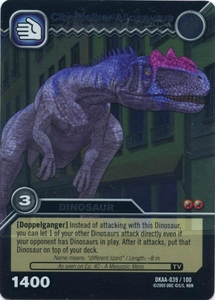 Dinosaur King TCG Alpha Dinosaurs Attack Single Card Silver DKAA-039 City Stalker Allosaurus
