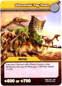 Dinosaur King TCG Alpha Dinosaurs Attack Single Card Common DKAA-043 Elemental Tag Team