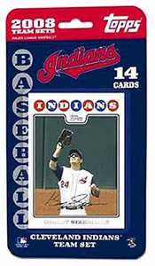 Topps MLB Baseball Cards 2008 Cleveland Indians 14 Card Team Set