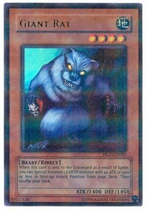 YuGiOh Hobby League Promo Card Single Parallel Rare HL03-EN001 Giant Rat