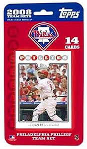 Topps MLB Baseball Cards 2008 Philadelphia Phillies 14 Card Team Set