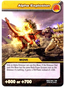 Dinosaur King TCG Alpha Dinosaurs Attack Single Card Common DKAA-048 Alpha Explosion