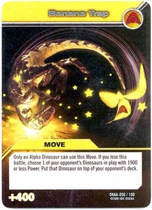 Dinosaur King TCG Alpha Dinosaurs Attack Single Card Silver DKAA-050 Banana Trap