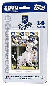 Topps MLB Baseball Cards 2008 Kansas City Royals 14 Card Team Set