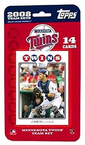 Topps MLB Baseball Cards 2008 Minnesota Twins 14 Card Team Set