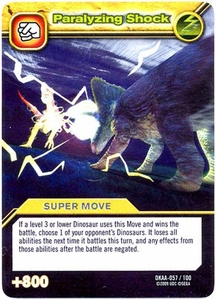 Dinosaur King TCG Alpha Dinosaurs Attack Single Card Silver DKAA-057 Paralyzing Shock