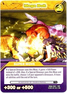 Dinosaur King TCG Alpha Dinosaurs Attack Single Card Common DKAA-058 Mega Bolt