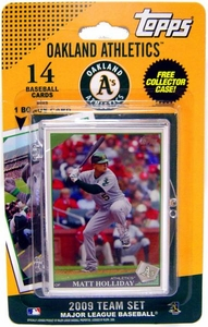 Topps MLB Baseball Cards 2009 Oakland Athletics 14 Card Team Set [Includes Team Mascot Card] BLOWOUT SALE!