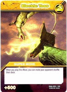 Dinosaur King TCG Alpha Dinosaurs Attack Single Card Common DKAA-059 Electric Toss