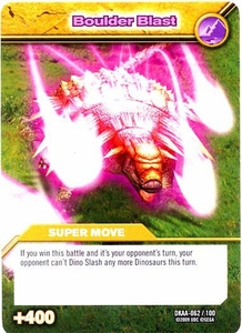 Dinosaur King TCG Alpha Dinosaurs Attack Single Card Common DKAA-062 Boulder Blast