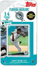 Topps MLB Baseball Cards 2009 Florida Marlins 14 Card Team Set [Includes Billy the Marlin Card]