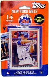 Topps MLB Baseball Cards 2009 New York Mets 14 Card Team Set