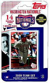Topps MLB Baseball Cards 2009 Washington Nationals 14 Card Team Set [Includes Teddy Roosevelt Card] BLOWOUT SALE!