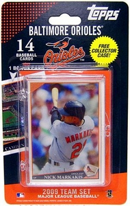 Topps MLB Baseball Cards 2009 Baltimore Orioles 14 Card Team Set [Includes Oriole Park at Camden Yards Card] BLOWOUT SALE!