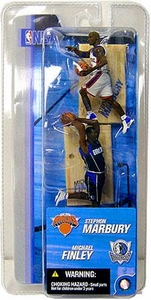 McFarlane Toys NBA 3 Inch Sports Picks Series 2 Mini Figures 2-Pack Stephon Marbury (New York Knicks) & Michael Finley (Dallas Mavericks)