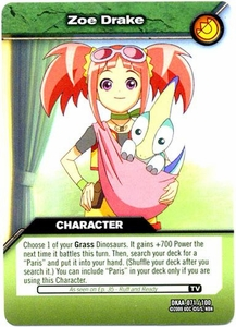 Dinosaur King TCG Alpha Dinosaurs Attack Single Card Common DKAA-071 Zoe Drake