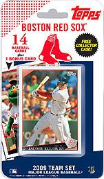 Topps MLB Baseball Cards 2009 Boston Red Sox 14 Card Team Set [Includes Wally the Green Monster Card]