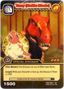 Dinosaur King TCG Alpha Dinosaurs Attack Single Card Gold DKAA-080 Terry (Battle Mode)