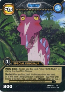 Dinosaur King TCG Alpha Dinosaurs Attack Single Card Common DKAA-081 Spiny
