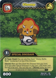 Dinosaur King TCG Alpha Dinosaurs Attack Single Card Common DKAA-083 Chomp