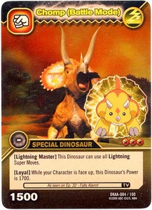 Dinosaur King TCG Alpha Dinosaurs Attack Single Card Gold DKAA-084 Chomp (Battle Mode)