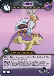 Dinosaur King TCG Alpha Dinosaurs Attack Single Card Common DKAA-085 Tank