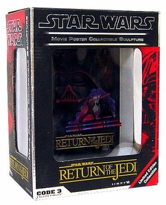 Star Wars Code 3 Limited Edition Collectible 3-D Movie Poster Sculpture Return of the Jedi