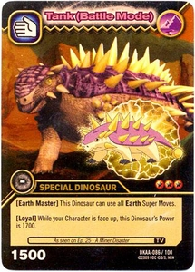 Dinosaur King TCG Alpha Dinosaurs Attack Single Card Gold DKAA-086 Tank (Battle Mode)