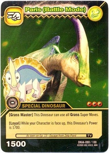 Dinosaur King TCG Alpha Dinosaurs Attack Single Card Gold DKAA-088 Paris (Battle Mode)