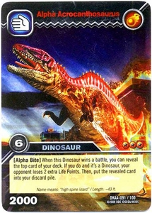 Dinosaur King TCG Alpha Dinosaurs Attack Single Card Colossal Rare DKAA-091 Alpha Acrocanthosaurus