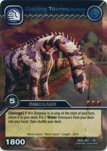 Dinosaur King TCG Alpha Dinosaurs Attack Single Card Colossal Rare DKAA-093 Grazing Titanosaurus