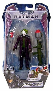 Mattel Batman Dark Knight Movie 5 Inch Action Figure Punch Packing The Joker [2009 Packaging]