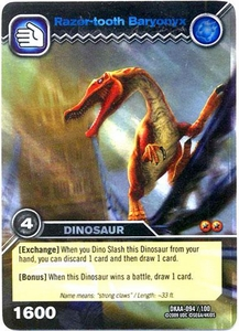 Dinosaur King TCG Alpha Dinosaurs Attack Single Card Colossal Rare DKAA-094 Razor-tooth Baryonyx